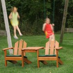 Wooden Adirondack set for kids/Item#:KZ-PICSET