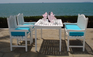Painted Wood Patio Furniture/Item#:SB-MIAMI