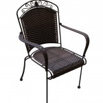 Resin Wicker Iron Chair/Item#:BC-WICKCHR3
