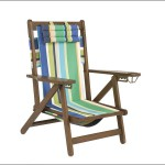 Wood & Textaline Camping Chair
