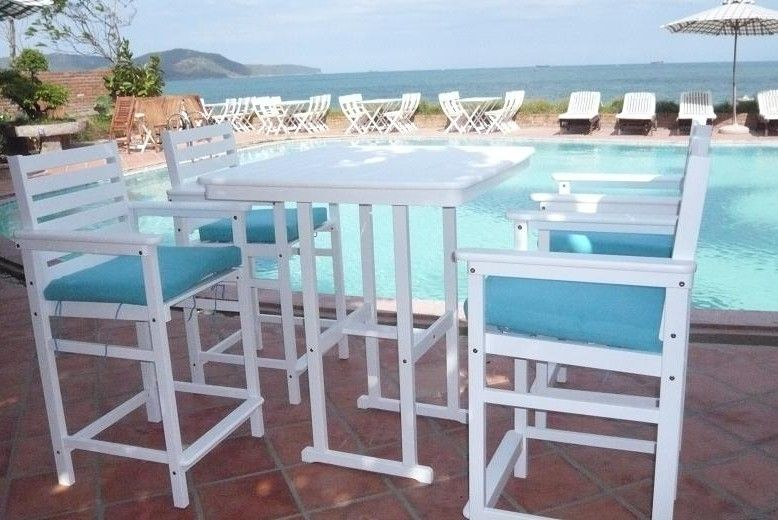 Patio Wooden Furniture/ White