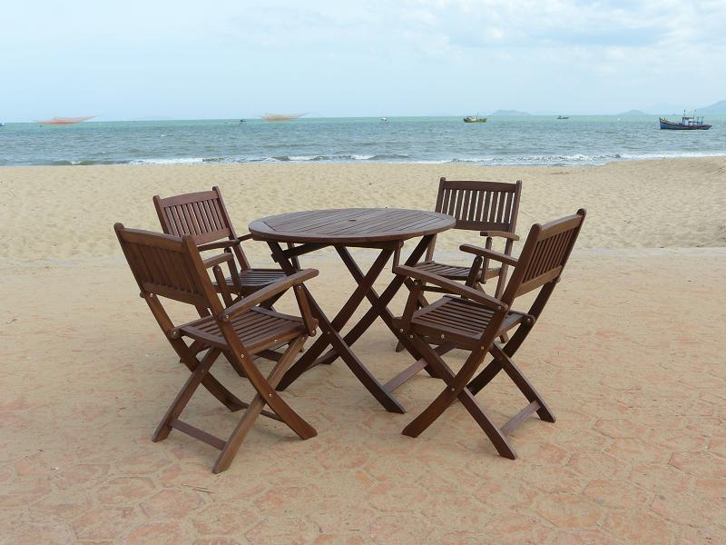 Wood Patio Furniture Set/Item#: M-FEZ