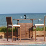 Outdoor Patio Bar Set- Natural Wood Collection/ITem#:V-MOJITO