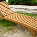 Wooden Chaise Lounge/Item#: B-SINGAPORE