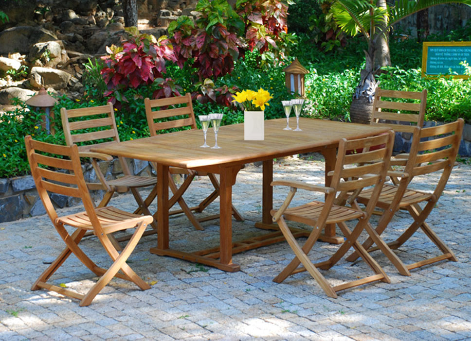 Wood Patio Furniture Set/Item#: M-BERKANE