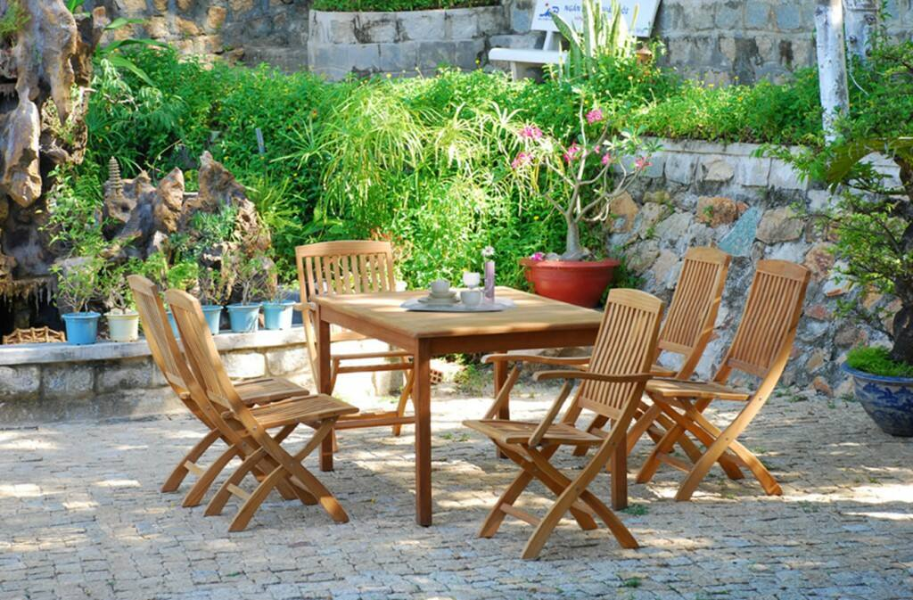 Wood Patio Furniture Set/Item#:M-LARACHE