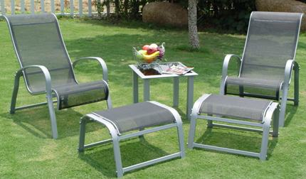 Aluminum Patio Furniture Set/Item#: TRI-CHARUMA