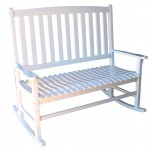Double Wooden Porch Rocker