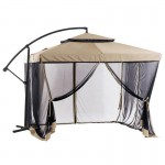 Offset Umbrella with screen( Beige color)