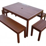 Wood Patio Furniture Set/Item#:M-TARFAYA