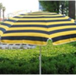 9' striped beach umbrella