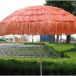 Tiki grass round beach umbrella
