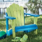 two tone kids wood adirondack chair
