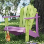 girl two tone kids wood adirondack chair