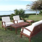 Wood Patio Deep Seating Furniture set/#M-TANGIER