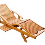 Adjustable wood chaise