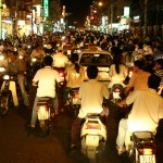 Vietnam traffic at night