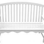 Wood white bench