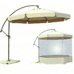 Offset umbrella with round screen