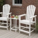 wood adirondack chair and table set