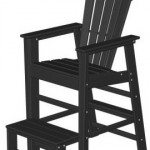 wood adirondack lifeguard chair black
