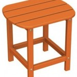wood adirondack side table tangerine