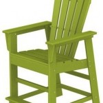 wood adirondack tall chair lime