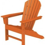 adirondack beach chair tangerine