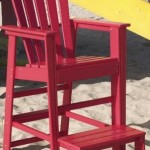 adirondack lifeguard chair with footrest black