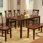 Carrington rectangle table 4 chairs and bench set