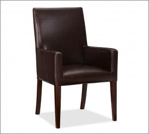 Leather dining w/arm
