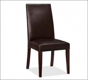 Leather dining armless